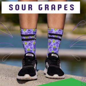 Grumpy Monkey - Sour Grapes Socks